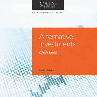 🚚 2018 Alternative Investments: CAIA Level I, 3rd Edition