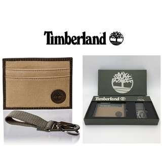 Original Timberland Canvas Leather Card Case Wallet Gift Set Cash On Delivery