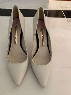 Genuine Sophia Webster white stiletto heels