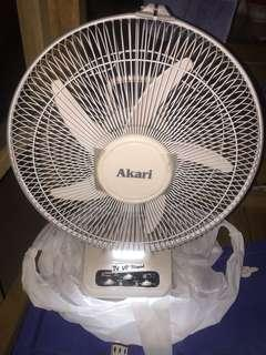Rechargeable fan with LED light 12""