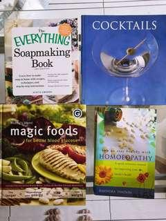 Assorted Books cooking, health and hobbies #JAN50