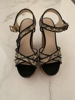 Black and white betts wedges