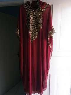 Baju Muslim red