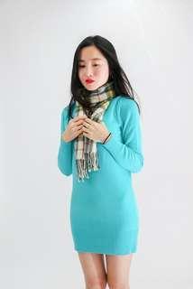 🚚 [二手]亮麗綠合身針織上衣