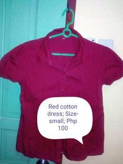 Red ladies blouse
