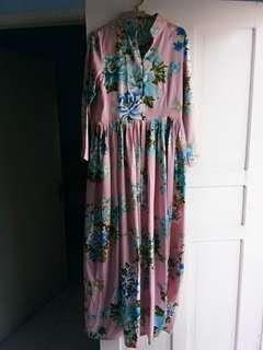 Dress kembang pink