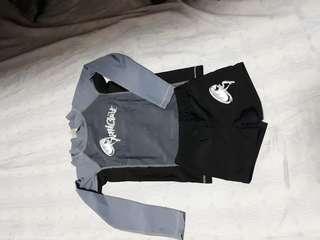 3pcs Rashguard swimwear for boys