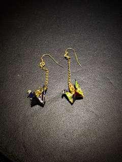 紙鶴耳環 paper crane earring