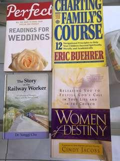 Assortment books for personal growth & wedding