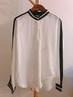 white chiffon blouse 雪紡恤衫