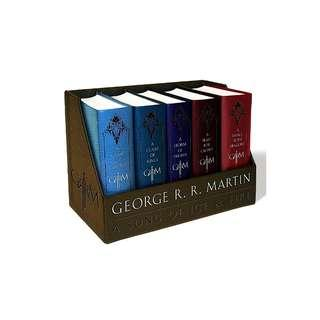 🔥A Game of Thrones 5 Books Leather Set