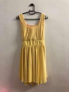 Yellow free size dress