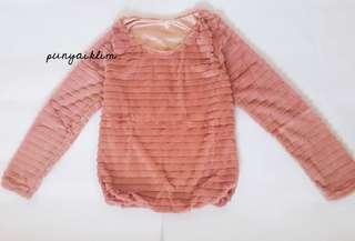 #CNY2019 Sweater Bludru Pink Nude