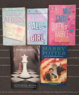 Harry Potter Twilight Saga Meg Cabot Cecelia Ahern preloved novels best seller