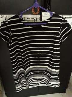 Striped blouse black and white