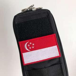 Singapore flag velcro