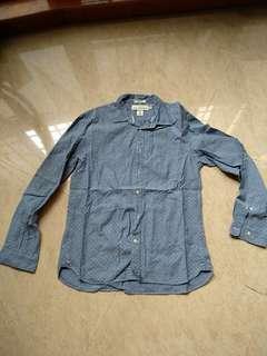 🚚 H&M Denim Long Sleeve Top M