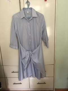 🎊 韓國藍白條子連身裙