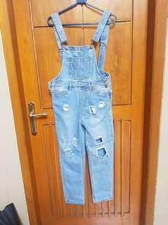 Overall ripped magnolia