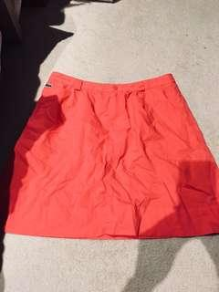 LACOSTE RED TENNIS SKIRT