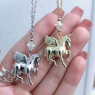 New Fairy tale Unicorn Necklace diffuser stashe brand for essential oil