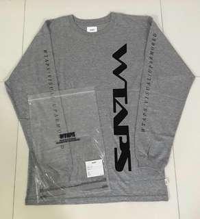 Wtaps grey sleeve grey tee - clearance