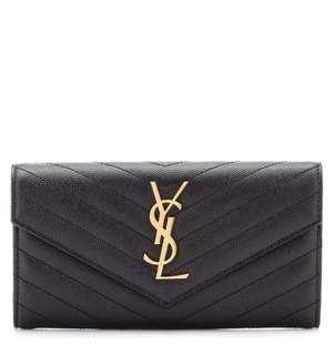BRAND NEW YSL Large Flap Monogram Wallet