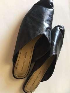 Zara leather slip-on
