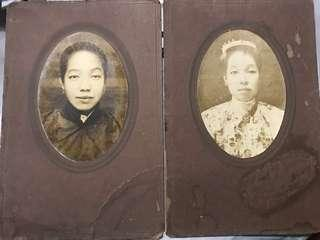 1910s Peranakan Photograph Portrait of Lady in Both Nyonya and Chinese costumes
