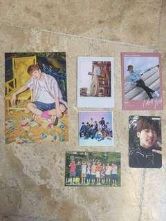 Stray Kids photocards, postcard and polaroid