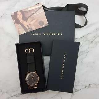 🚚 Daniel Wellington DW Classic Cornwall Black 36mm Watch