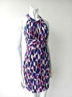 GUESS Print Halter Neck Dress