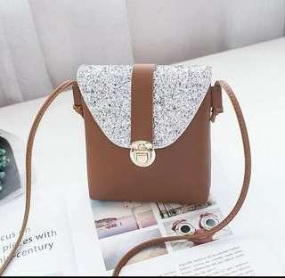 Ladies Shoulder Bag - Brown Only