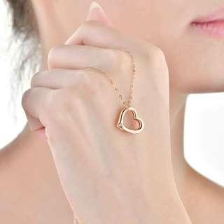 🚚 訂製情人專屬 Sweet Heart 玫瑰金鑽石項鍊