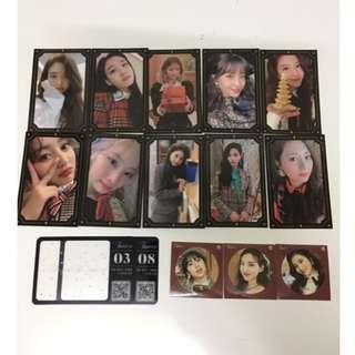 Twice TYOY photocard, qr card, sticker