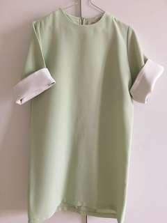 Dress hijau muda korea