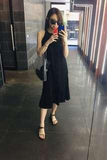 Size 8-12 summer black maxi dress