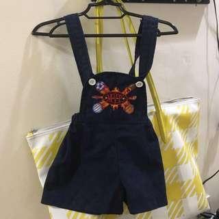navy  blue shorts jumper