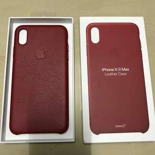 iPhone Xs Max Leather Case RED