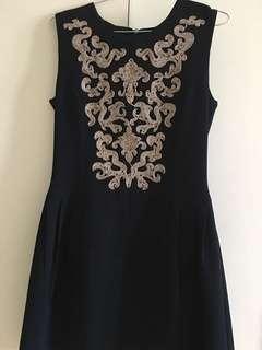 Korea Handmade Royal Blue Dress