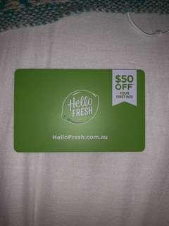 $50 off your first Hello Fresh order