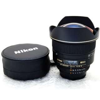Nikon AF14mm f2.8D ED Ultra Wide Angle Lens **MINT**