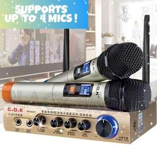 🚚 KTV Wireless Microphone Receiver Mixer System Supports Up to 4 Mics