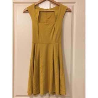 Ally - Mustard Dress