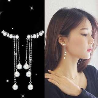 🚚 [PO] Hypoallergenic Pearl Tassel Dangling Earrings