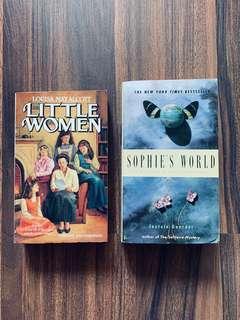 $100/3本 Classics Little Women Sophie's World