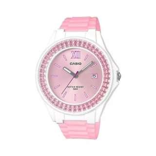 Casio Ladies' Standard Analog Pink Resin Band Watch