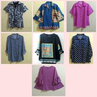 Turun harga blouse / atasan wanita / kemeja / preloved good condition take all