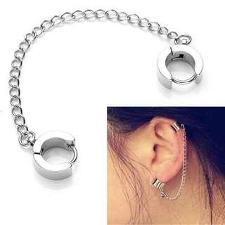 🚚 [PO] Rock Hoop Chain Ear Cuff