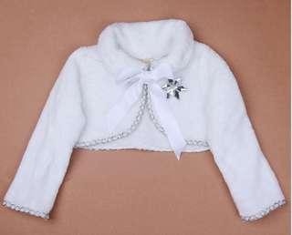 New white jacket 白色小外套 披肩 party 飲宴 新年 賀年服